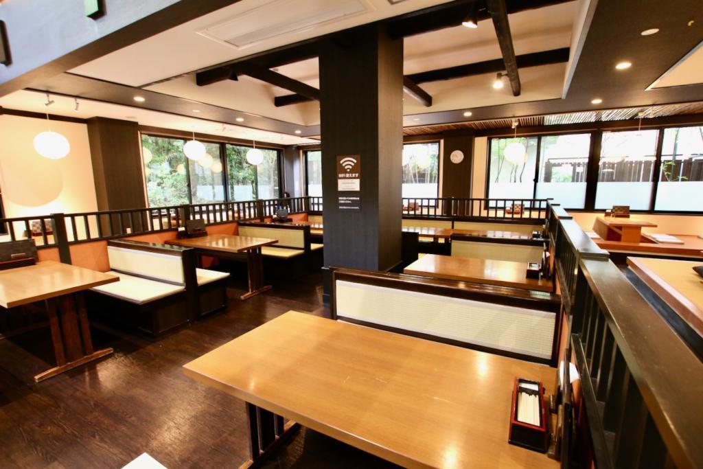 多摩境天然温泉「森乃彩」1階 食事処「旬菜亭」テーブル席
