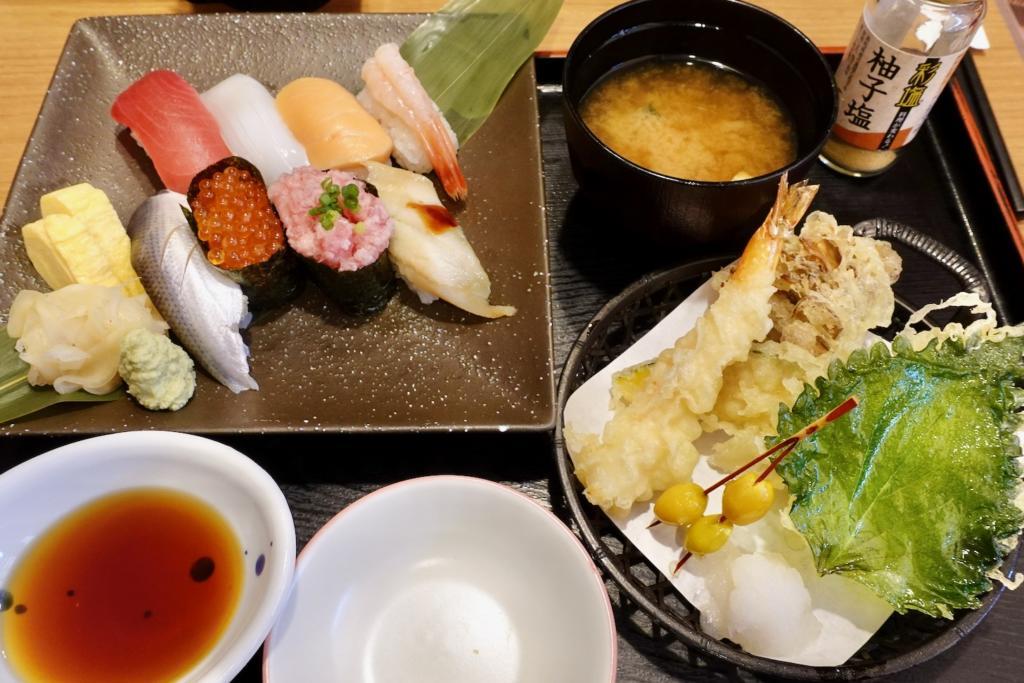 握り寿司と秋味天ぷら御膳(期間限定)