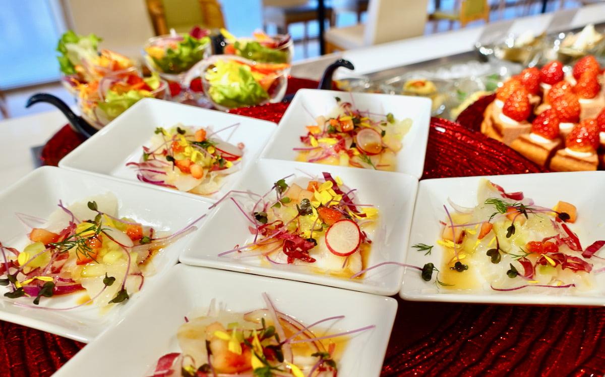 白身魚といちごのカルパッチョ