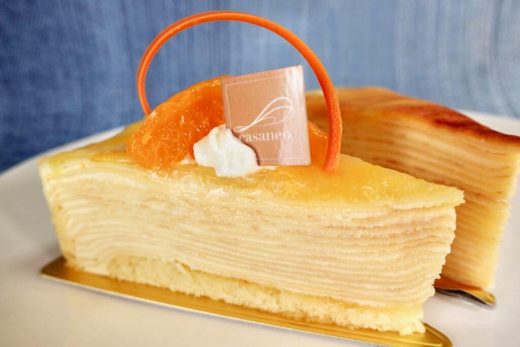 季節のミルクレープ 清見オレンジ