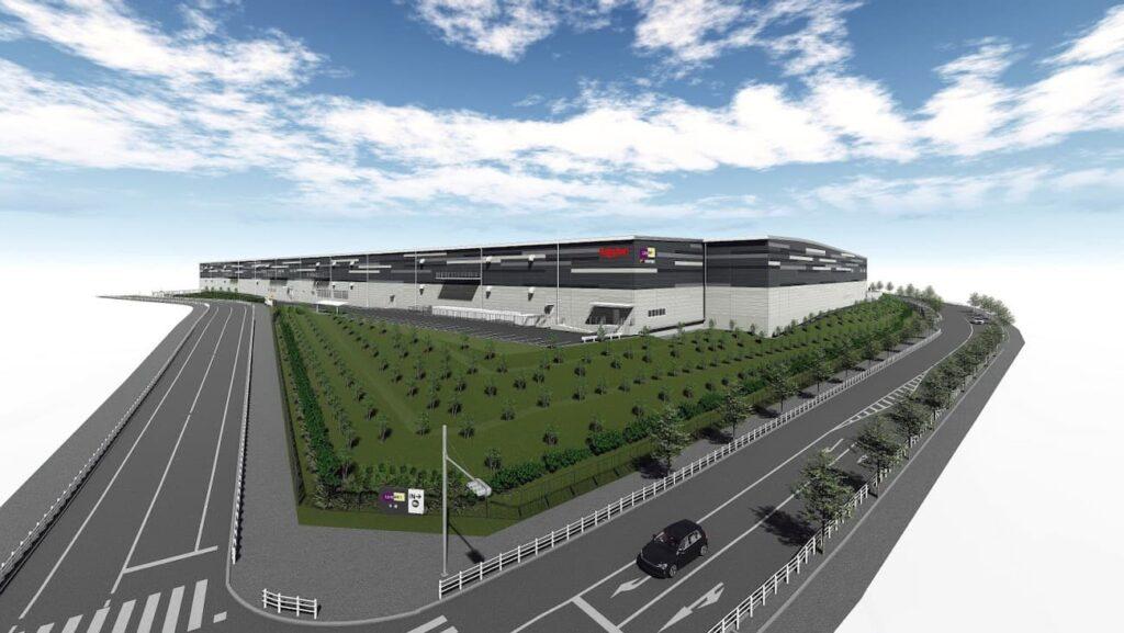 「Landport多摩」完成予想図「Rakuten Fulfillment Center Tama(仮)」
