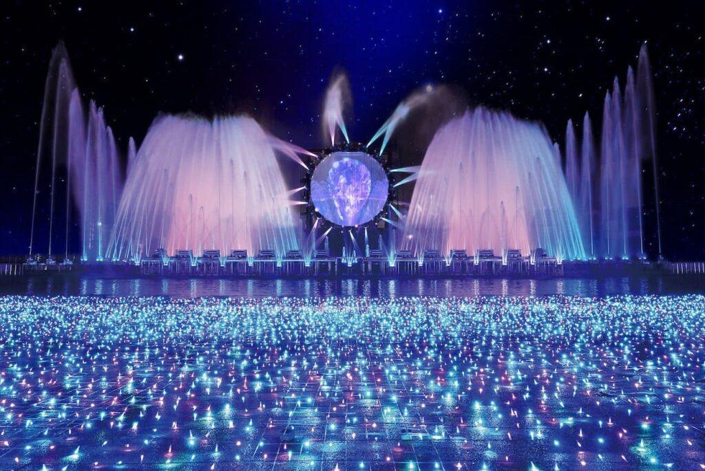 噴水ショー(昨年の様子)