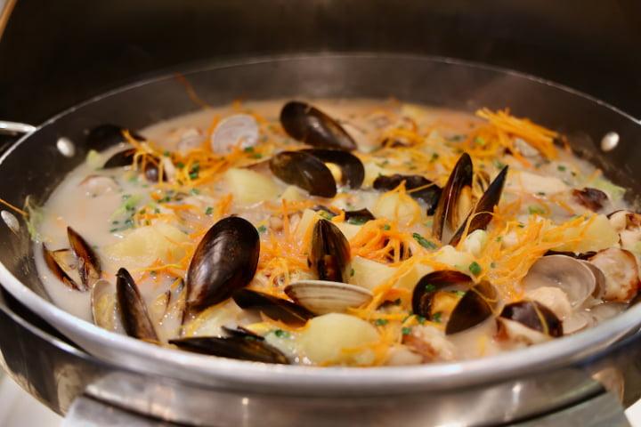 魚と野菜のスープ仕立て